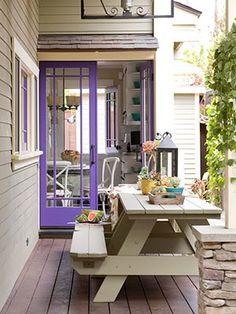 Purple door. I like this shade of purple.