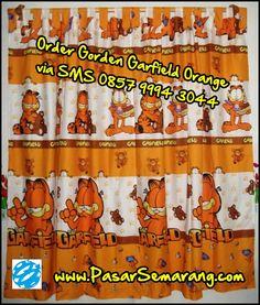 Garfield merupakan salhsatu contoh motif kartun yang sangat di sukai anak. Ketika kami nemu motif cocok, kami lanngsung buatkan desain gorden yang bisa anda lihat di foto. Itu produk gorden handmade yg bisa anda pesan kepada kami.  Format SMS: Nama - Pesan Gorden Garfield - Ukuran Jendela lebar x tingginya Lalu SMSKAN ke 0857 9994 3044 atau ke PasarSemarang.com