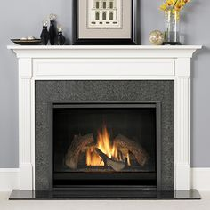 Having a #gas #fireplace can add a nice warm touch to a #home, without worrying about smoke.