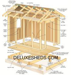 Get over 12000 construction plans at DeluxeSheds.com #backyard #garden #gardening #sheds