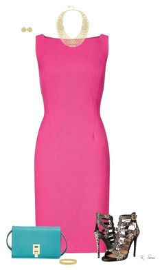 """Pink.....and look a those heels!!"" by ksims-1 ❤ liked on Polyvore featuring Adrianna Papell, Steve Madden, Michael Kors, BCBGMAXAZRIA, Kate Spade and Effy Jewelry"