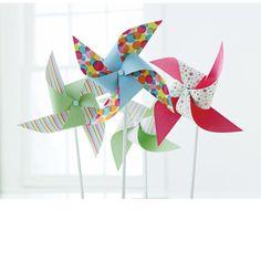 Martha Stewart Crafts Modern Festive Pinwheel Kit - summer fun for a party or everyday
