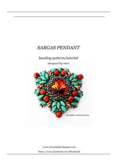*P Sargas Pendant Beading Pattern/Tutorial PDF file for by micabead