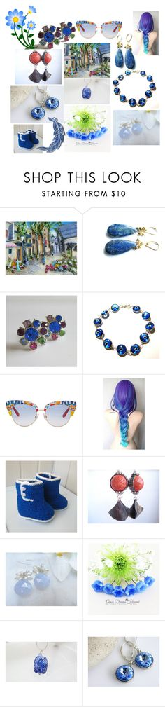 """""""Unique Handmade Gifts"""" by anna-recycle ❤ liked on Polyvore featuring Lazuli, MATÌ, Dolce&Gabbana, modern, rustic and vintage"""