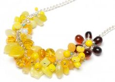 Bead Barmy: Mellow Yellow Beads Necklace