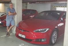 Spotted in Brisbane, Australia.  Tesla Model S with new grill style.  Classy!
