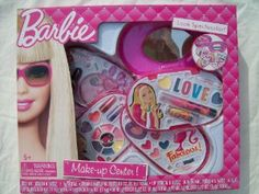 Barbie Make-Up Center by East West Distributing Company. $12.99. lipstick and lip pencil. nail polish and press on imitation nails. blush. different kinds of lipgloss. stickers. New and ready to ship. Ships fast with tracking number and signature confirmation.