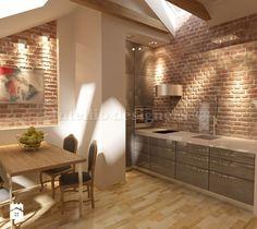 Kuchnia na poddaszu - zdjęcie od Intellio designers projekty wnętrz