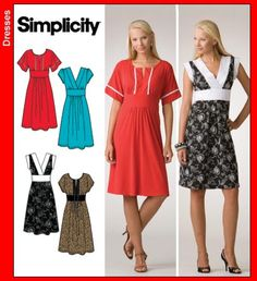 Simplicity 3875 -- what Erin McKean used for her Duro Jr. dresses.