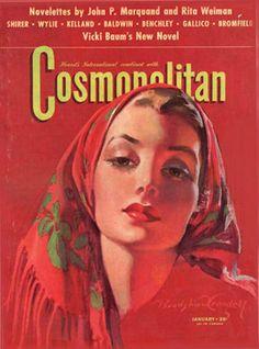 Cosmopolitan Magazine Vicki Baum - Mad Men Art: The Vintage Advertisement Art Collection Magazine Cosmopolitan, Instyle Magazine, Vintage Advertisements, Vintage Ads, Vintage Posters, Vintage Makeup, Vintage Beauty, Old Magazines, Vintage Magazines