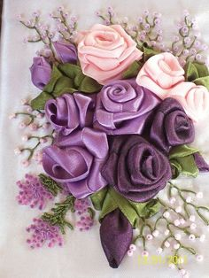 ribbon embroidery by jeanne.thorson