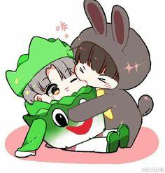 No me gusta el jikook debido a que soy yoonmin shipper a morir❤ but este fanart me puede ;^;