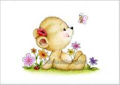 Teddy Bear Nursery Art Teddy Bear Garden Animal Nursery
