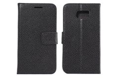 Litchi Grain Pattern Flip Wallet Folio Leather Protector Cases for Samsung Galaxy S6 | Lagoo Tech