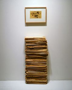 Jennifer Bolande Stack of Shims (with wire photo), 1987