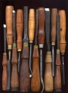 Wood carving chisels.