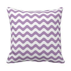 Purple Throw Pillow - Wave Pattern  Use code BLKFRIZAZZLE at checkout and receive 30% off