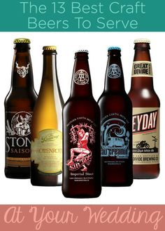 Enjoy a craft beer? Here are the ones you should serve at your wedding