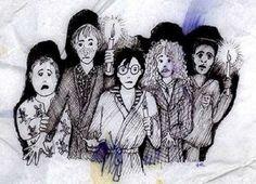 Así imaginaba J.K Rowling a los personajes de la saga Harry Potter - http://www.actualidadliteratura.com/asi-imaginaba-j-k-rowling-los-personajes-la-saga-harry-potter/