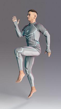 Alphalete Zenith Concept Suit in Mercurial Gray Superhero Art Projects, Superhero Design, Tactical Uniforms, Combat Suit, Superhero Suits, Concept Clothing, Cyberpunk Clothes, Space Fashion, Future Clothes