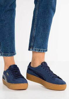 5d1618e3c3be sneakers I like · Puma VIKKY PLATFORM - Baskets basses - peacoat -  ZALANDO.FR Puma Bleu