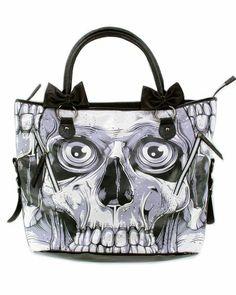 Iron Fist Bone Breaker Black and White Goth Skeleton « Clothing Impulse