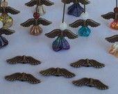 Angel Wings Antique Bronze 21 x 6.5mm