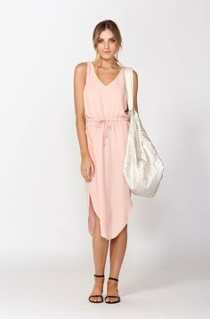Shop this cute pink drawstring dress - DECJUBA 1095 High Street, Armadale Fashion Outfits, Womens Fashion, Fashion Trends, Wardrobe Basics, Leather And Lace, Womens Scarves, Spring Fashion, Clothes For Women, Mexico