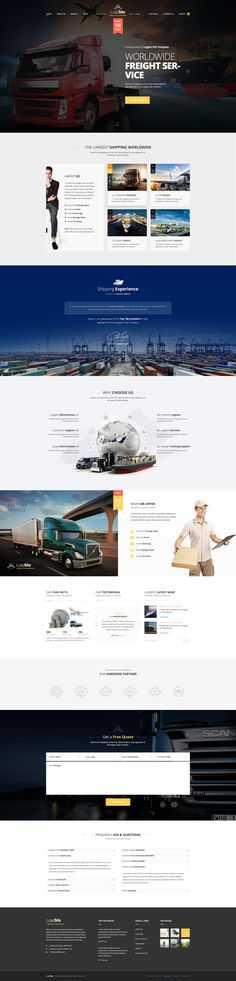 Buy LoadMe - Logistic & Transportation PSD Template by on ThemeForest. LoadMe – PSD Template Feature ______________________________ LoadMe is an Awesome Design Idea for website of Logistic. Ui Ux Design, Flat Web Design, Page Design, Dashboard Design, Design Agency, Sites Layout, Web Layout, Layouts, Mobile Ui