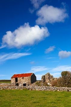 Derelict farm building on the West Penwith Moors Nr Bosullow and Men-An-Tol, Cornwall