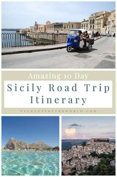 Plan a magical Sicily road trip with our guide to travelling around Sicily by car. Spend 10 days on Italy's most famous island knowing what to see, where to go and what to do in Sicily. Top Europe Destinations, Europe Travel Guide, European Summer, European Travel, European Destination, Best Cities, 10 Days, Sicily, Travel Around