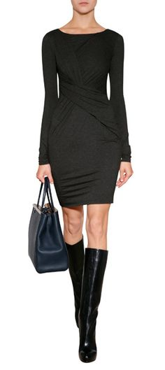 A flattering choice for work to cocktails, Bailey 44's twisted dress features a modern draped front and soft, figure-hugging jersey #Stylebop