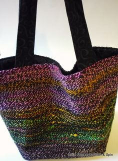 Little Monkey's Stitch and Spin:  Woven Tote Bag Tutorial: Part 3 (Finish Sewing)