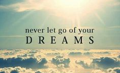 Facebook cover picture/photo. -  never let go of your dreams.
