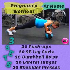 Pregnancy workouts like this will help you prevent excess weight gain so that you feel great during pregnancy.  You can do all the exercises from home and they are safe and effective.      http://michellemariefit.publishpath.com/the-4-best-pregnancy-exercises-for-the-thighs-butt