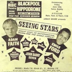 Seeing Stars - ABC Theatre, Blackpool. The Two Ronnies, Theatre Posters, Morecambe, British Comedy, Blackpool, Great British, Big Star, Artists Like