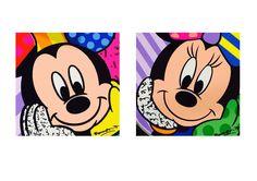Molde para luminária do Mickey e Minnie