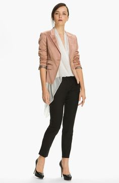 Love the 3/4 sleeve and blush color. My gray Elizabeth and James blazer is, by far, my most prized fashion possession. Elizabeth and James 'Abi' Blazer | Nordstrom
