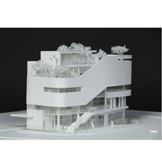 Maquette Architecture, Architecture Concept Drawings, Amazing Architecture, Art And Architecture, Mix Use Building, Building Design, Arch Model, Architectural Section, 3d Prints