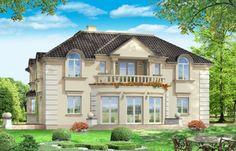 Projekt domu Ambasador 3 - wizualizacja tylna