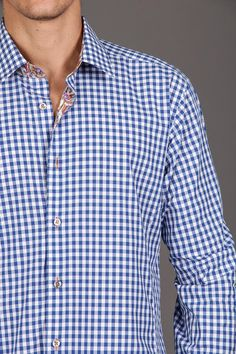 Mens Woven Shirt with Contrast Collar and Cuff / by Jared Lang