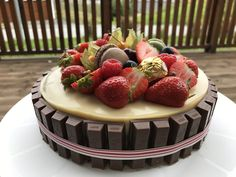 Vanilla Chocolate Berries on top