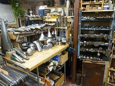 Jeffrey Herman Silversmith: Silversmithing Shop View #9