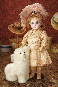 French Bisque Bebe Jumeau, Size 6, Original Jumeau Costume, Signed Bebe Jumeau Shoes