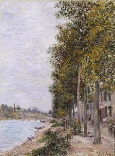 Road Along the Seine at Saint Mammes by @artistsisley #impressionism