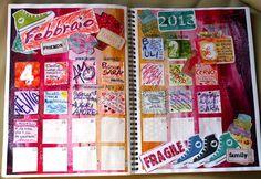Calendar Journal Febbraio - Monica e lo Scrapbooking