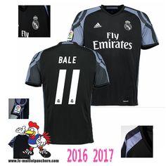 Acheter Nouveau Maillot De Foot Real Madrid Noir (BALE 11) Third 2016-2017… ea5afbbf97dc5
