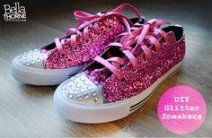 DIY Fun: Glitter Sneakers