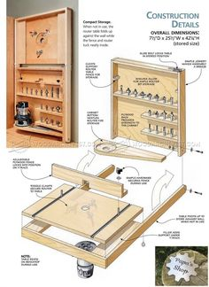 fold down router table plans - router Router Table Fence, Router Table Plans, Table Storage, Storage Shelves, Storage Organization, Router Accessories, Garage Workshop Plans, Router Jig, Joinery