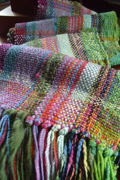 Handwoven Scarf Woven Wrap Downtown Collection by barefootweaver